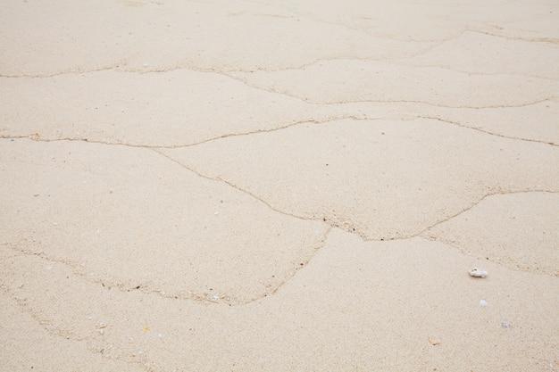 Superfície da praia arenosa formada pelo choque das ondas.