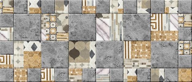 Superfície da telha cerâmica. fundo de mosaico de pedra decorativa. elemento para design de interiores