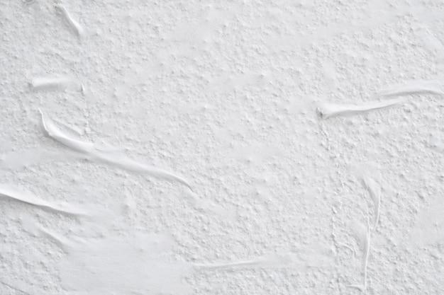 Superfície da textura do pôster de papel rasgado amassado amassado branco em branco