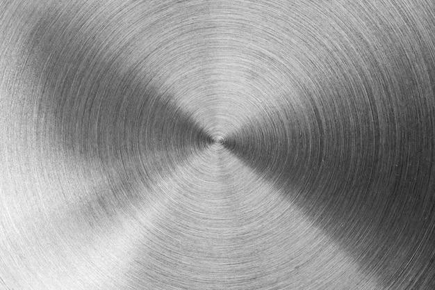 Superfície de aço inoxidável radial