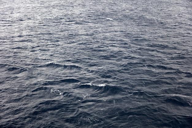 Superfície de água azul escura no fundo do mar
