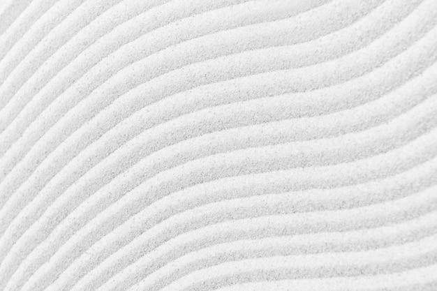 Superfície de areia branca com textura de fundo zen e conceito de paz