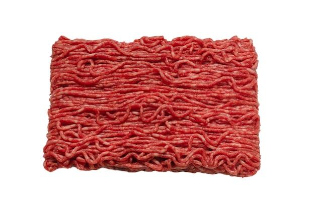 Superfície de carne picada de carne crua
