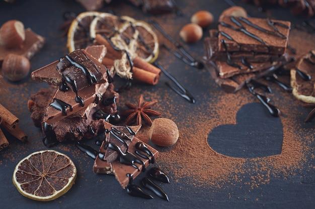 Superfície de chocolates