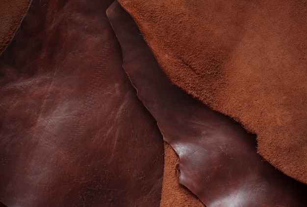 Superfície de couro velho