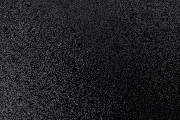 Superfície de fundo com textura de couro preto, close-up