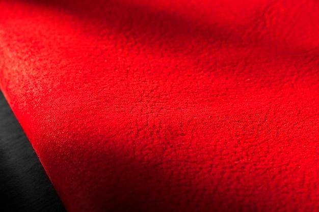 Superfície de fundo com textura de couro vermelho