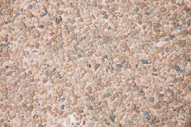 Superfície de fundo de cascalho de pedra chão de terrazzo