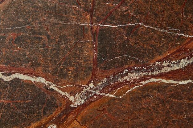 Superfície de granito marrom de fundo de pedra de textura abstrata gráfica, espaço de cópia. fundo natural para decoração de interiores.