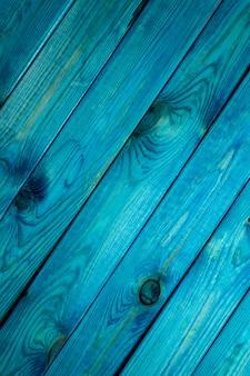 Superfície de madeira azul