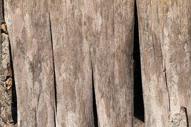 Superfície de madeira com sua estrutura, detalhes e características da madeira