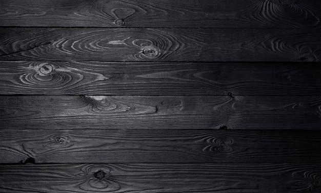 Superfície de madeira preta