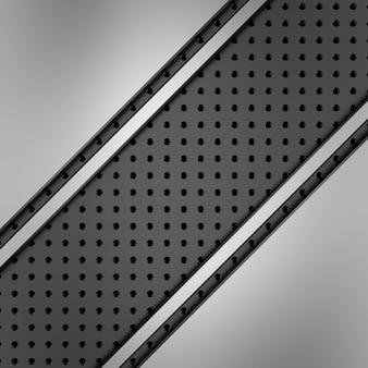 Superfície de metal com e orifícios