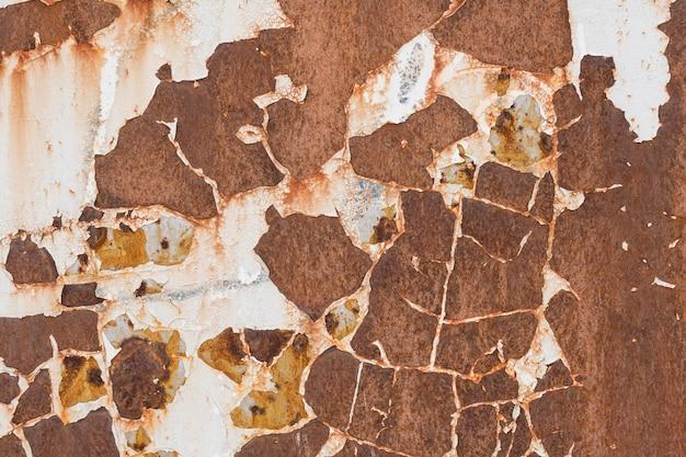 Superfície de metal com rachaduras e ferrugem textura abstrato