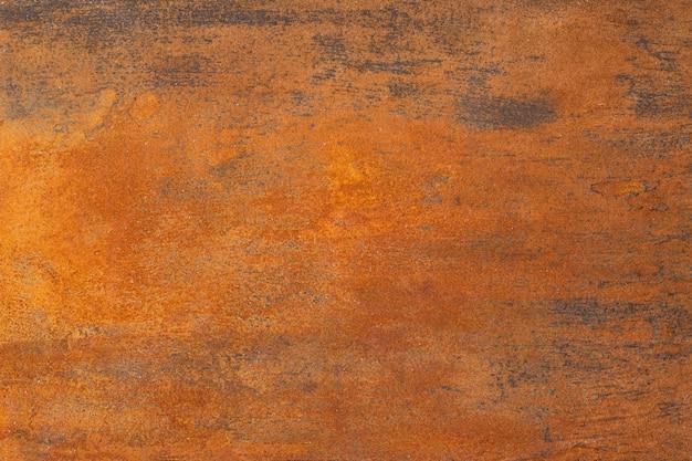 Superfície de metal enferrujada com textura laranja Foto Premium