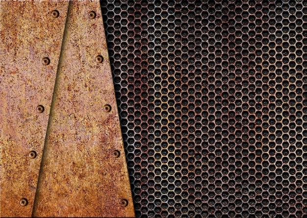 Superfície de metal enferrujada