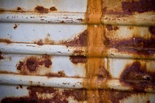 Superfície de metal enferrujado, textura