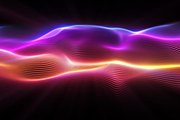 Superfície de onda abstrata Foto Premium