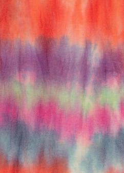 Superfície de tecido tie-dye gradiente multicolorido