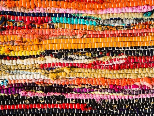 Superfície de textura colorida artesanal