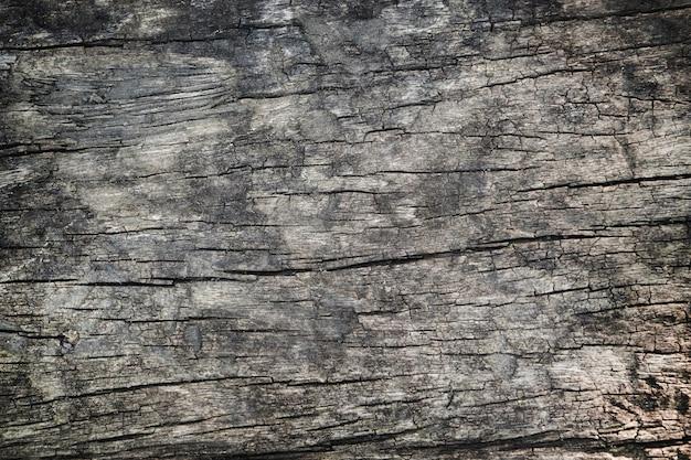 Superfície de textura de madeira escura com padrão natural antigo.