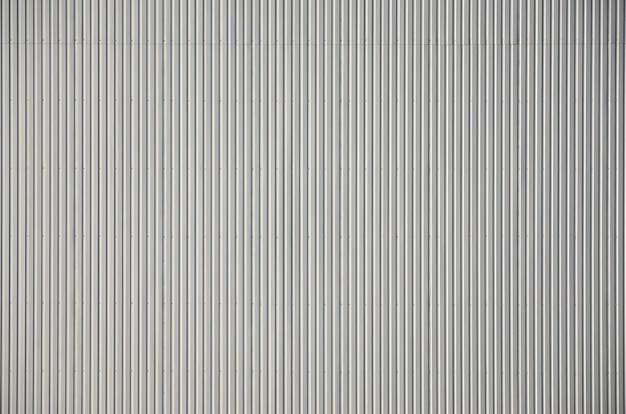 Superfície de textura de metal corrugado branco