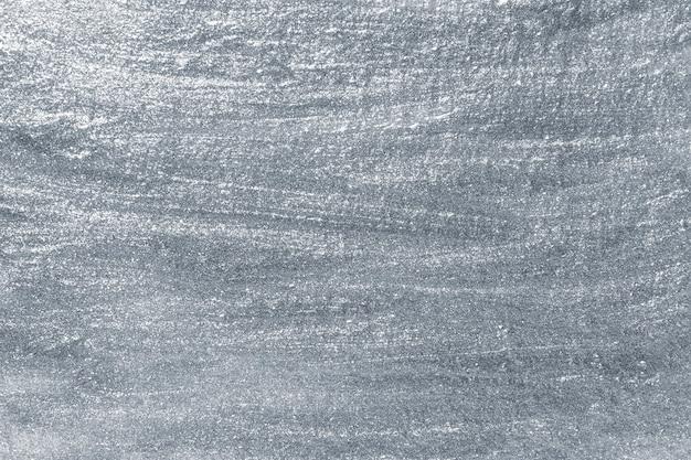 Superfície de tinta metálica prateada