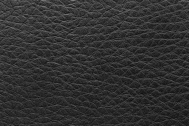 Superfície do fundo preto vintage de couro.