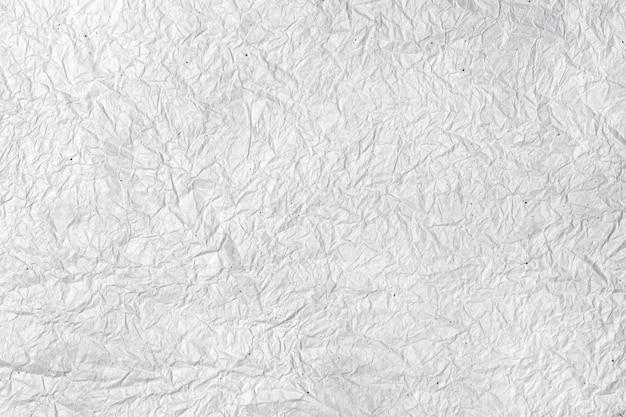 Superfície do papel branco amassado