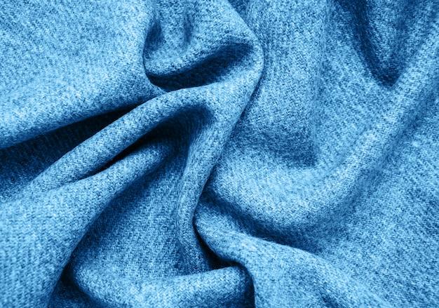 Superfície do tecido na cor azul clássica