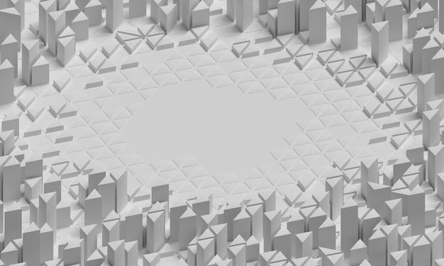 Superfície geométrica com alta visão de formas aglomeradas
