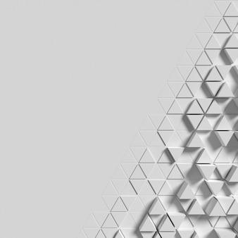 Superfície geométrica com formas poligonais aglomeradas