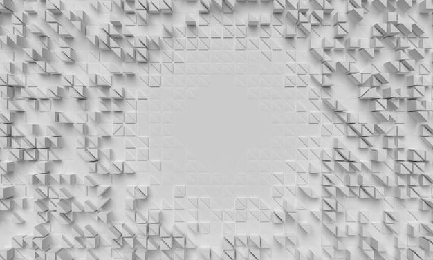 Superfície geométrica com vista superior de formas aglomeradas