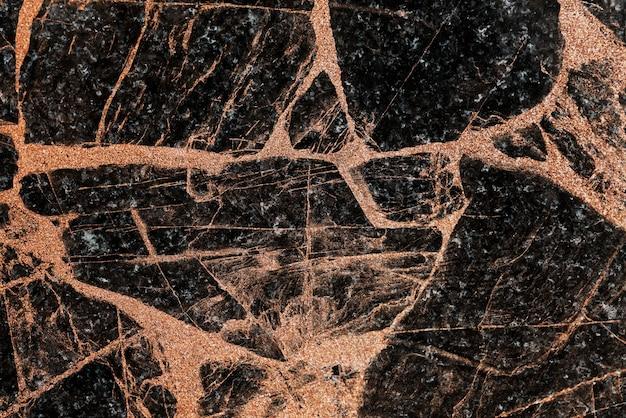 Superfície marmoreada preta