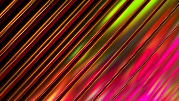 Superfície ondulada 3d. fundo ondulado abstrato com ondulações de néon.
