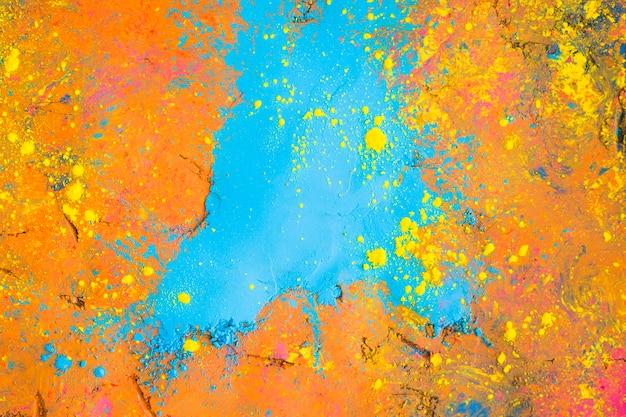 Superfície pintada colorida