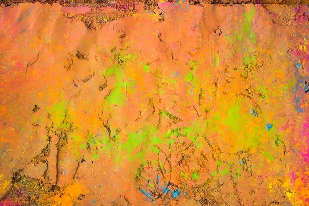 Superfície pintada de laranja brilhante da tabela
