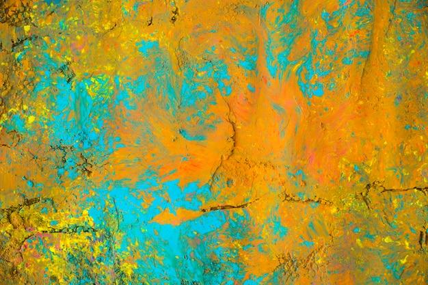 Superfície pintada de laranja