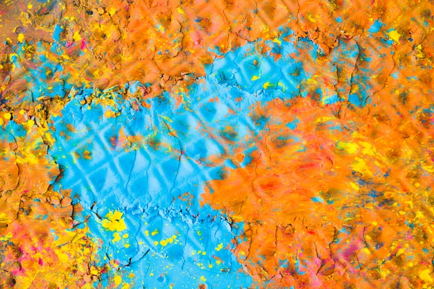 Superfície pintada multicolor
