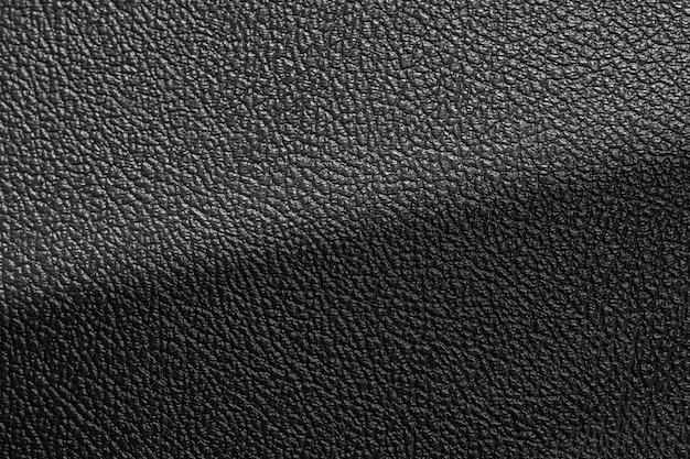 Superfície simples de fundo de textura de couro de luxo preto usada nos pano de fundo ou design de produtos