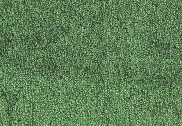 Superfície textural de toalha verde