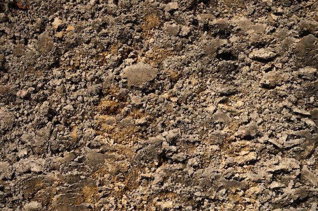 Superfície texturizada do solo como pano de fundo, vista superior
