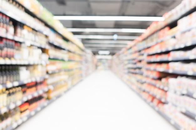 Supermercado de borrão abstrata