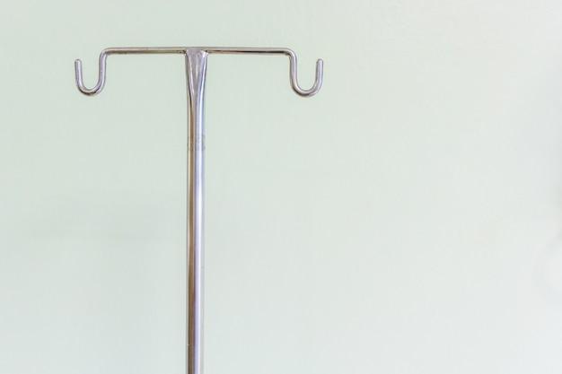 Suporte de pólo intravenoso vazio para soro, sangue e bolsas farmacêuticas