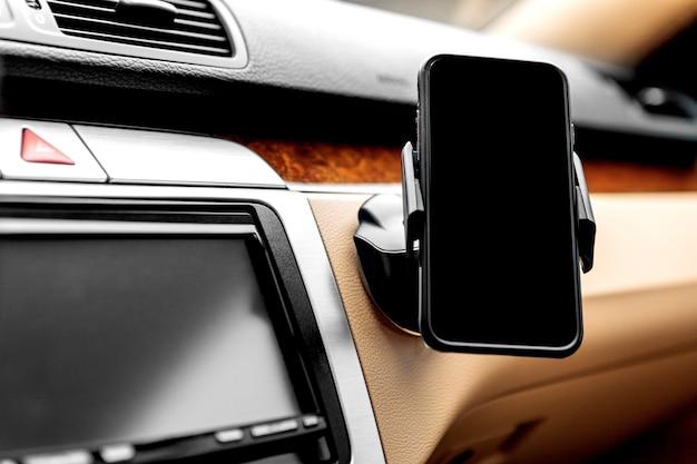 Suporte de telefone inteligente black car