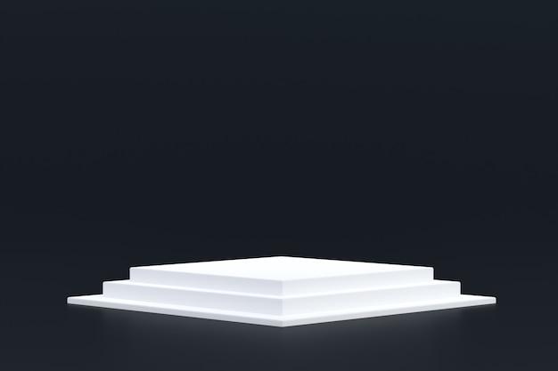 Suporte para produtos, podium minimal on black para apresentação de produtos cosméticos.