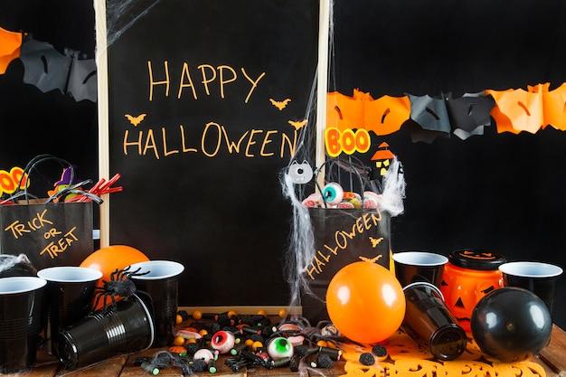 Suprimentos de halloween para festa