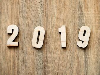 Suspiro número do símbolo Feliz ano novo 2019