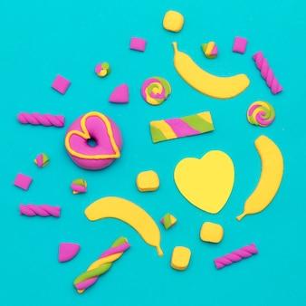 Sweet candy fashion art minimal flatlay vanilla mood