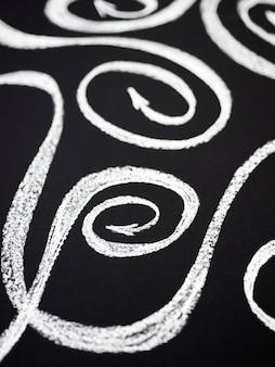 Swirly setas de giz